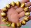 "Natural Handmade Gold Tiger/'s Eye Gemstone Round Beads Stretch Bracelet 7.5/"""