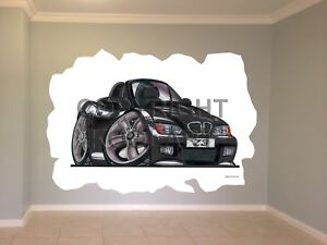 Huge Koolart Cartoon Bmw Z3 Wall Sticker Poster Mural 1910