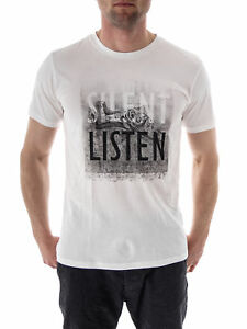 Blanc Rond Tee shirt Col Silencieuse Haut T Library Liste 1xpqwpf486