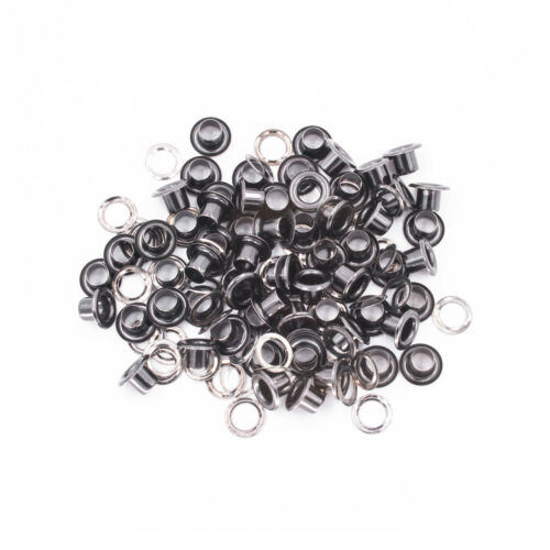 100pcs 4mm-14mm Long Barrell Eyelets with Washers in Various Colour Art /& Crafts