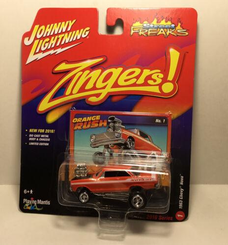 A.s.s nuevo Johnny Lightning 1//64 1963 Chevy Nova Orange Street monstruos jlsf 001-01