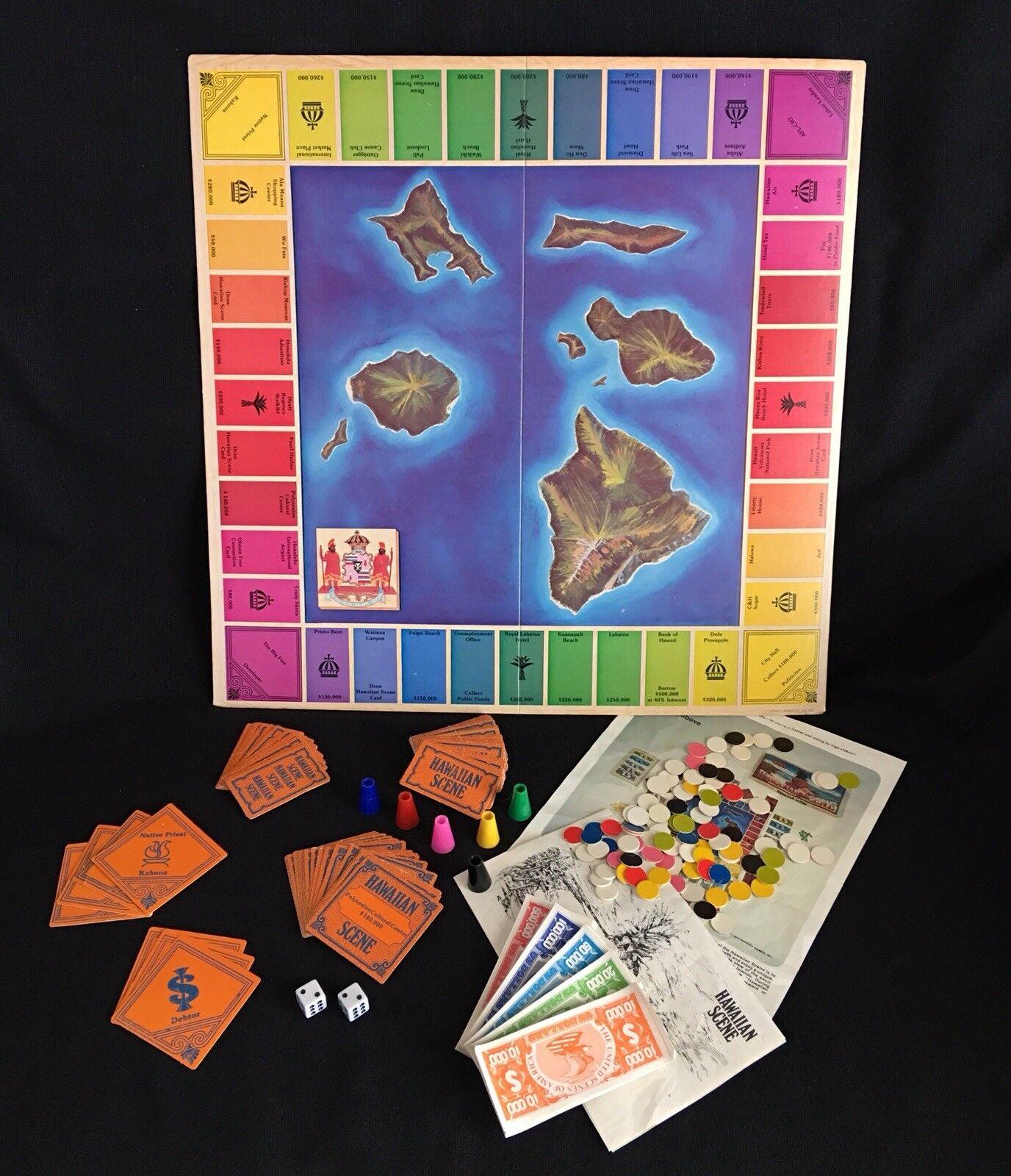1978 Hawaiian Scene Island Properties Vintage Board Game Groovy Games Complete