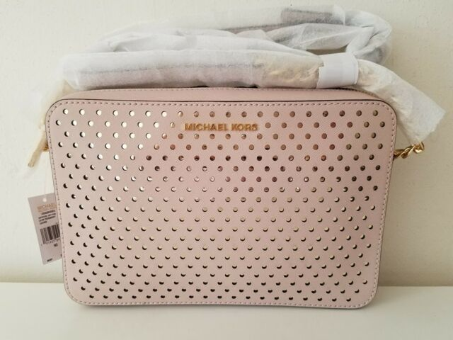 beb64780d1a0 Michael Kors Crossbodies Large East West Perforated Soft Pink ...