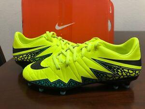 de2f7929491 NEW SZ 12 Men Nike Hypervenom Phelon II FG Soccer Cleats Volt Black ...