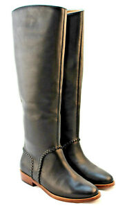 d1641c6f96b Details about New UGG Women's Size 9 Black Gracen Whipstitch Leather Riding  Boot RETAIL $325