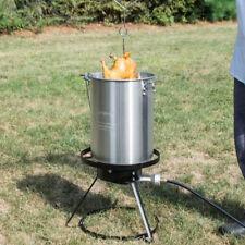 Backyard Pro Weekend 30 Qt Turkey Fryer Kit Aluminum Stock Pot Access 55000 Btu