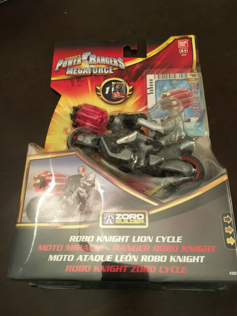 Power rangers megaforce robo knight lion cycle - MISB  with vulcan cannon RARE