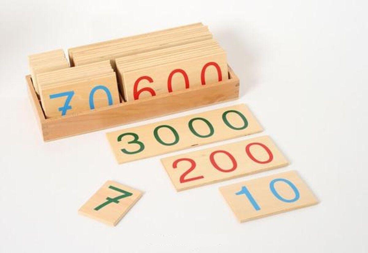 Zahlenkarten 1 - 9000, Big - Montessori