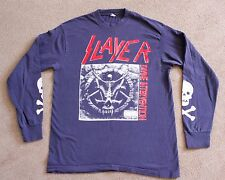 Vintage 1995 SLAYER Long Sleeve Concert T-Shirt Thrash Metal Divine Intervention