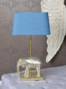 Sur Chevet Détails Figure Table Or Lumière Éléphant Figurine Lampe De Animale 0OP8wnk