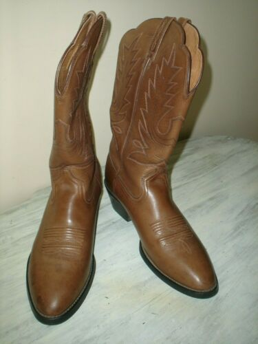 ARIAT Men's 15724 Brown Leather Cowboy Western Boots Size 9.5 B Very Good hot sale