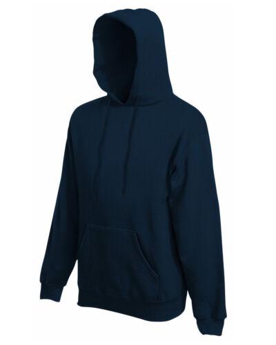 9-Colour, S-2XL Fruit Of The Loom Men/'s Premium Hooded Sweat