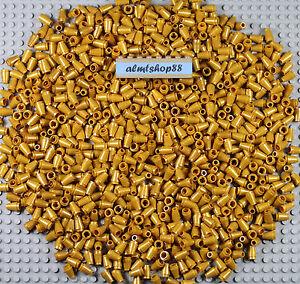 LEGO PEARL GOLD 1X1 Cones 4589 X 24 NINJAGO CITY CREATOR SPARE PARTS