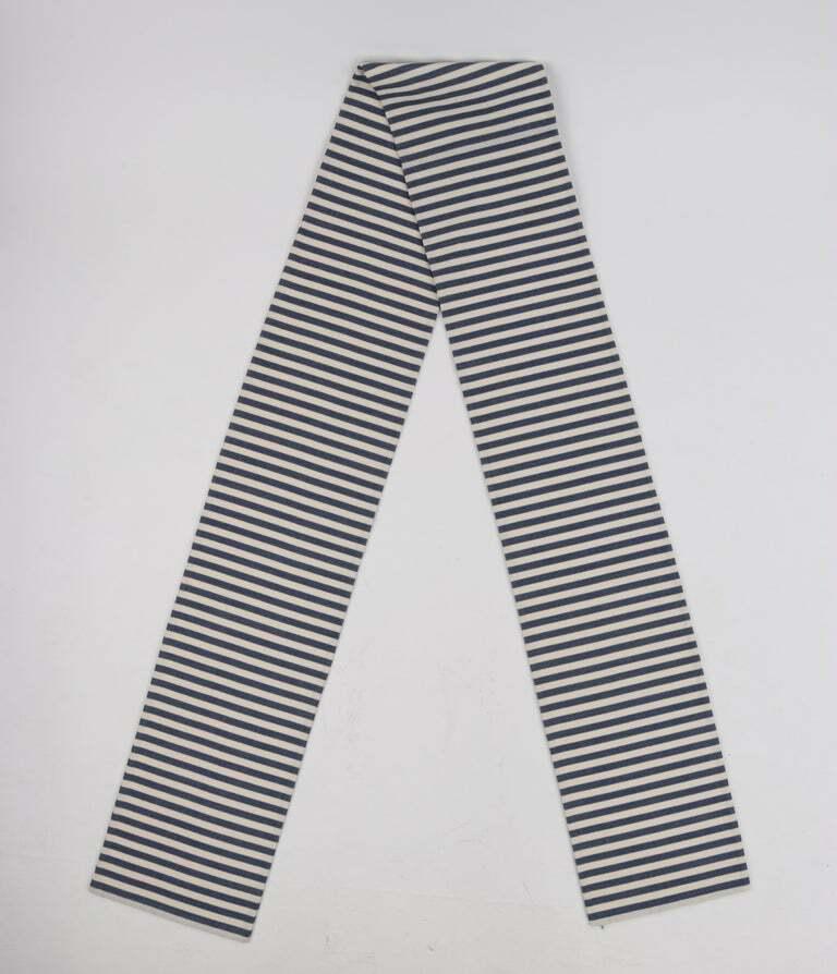 PAULINE TRIGERE c.1980's Blue Ivory Striped Pleat… - image 8