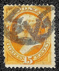 US Stamp Scott #152 nyfm annuler 15 cent Webster Orange