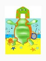 Kreative Kids 100% Cotton Turtle Hooded Poncho Towel 24 X 48