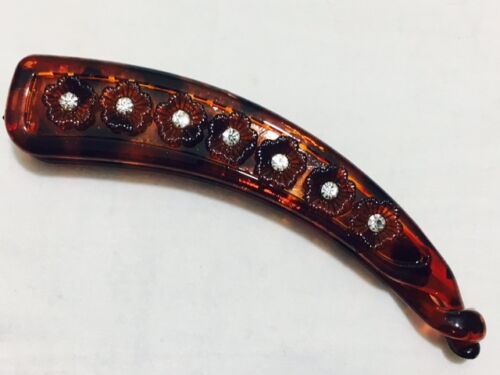 New Rhinestone Stylish Banana Hair Clip With Teeth 12.7 cm Long Fish Clips Grips