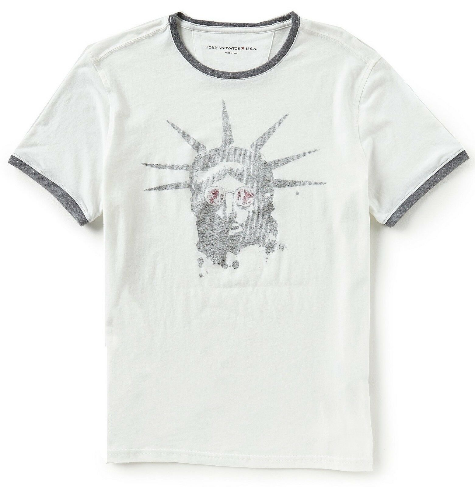 John Varvatos Star USA Men's Liberty Shades Graphic Cotton Crew T-Shirt Salt