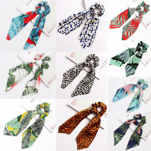 Scrunchies-Ribbon-Bands-Elastic-Hairtie-Hair-Band-Ties-Bow-Scarf-Rope-Girl-Women