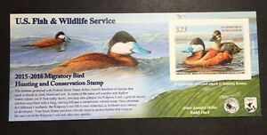 Image Is Loading RW82A 2015 2016 US Federal Duck Stamp Post