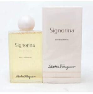 Selvatore Feragamo Signorina bath & shower gel 6.8 oz / 200 ml sealed box