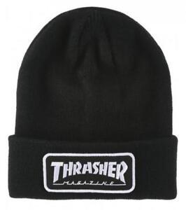 THRASHER-MAGAZINE-LOGO-PATCH-BEANIE-BLACK