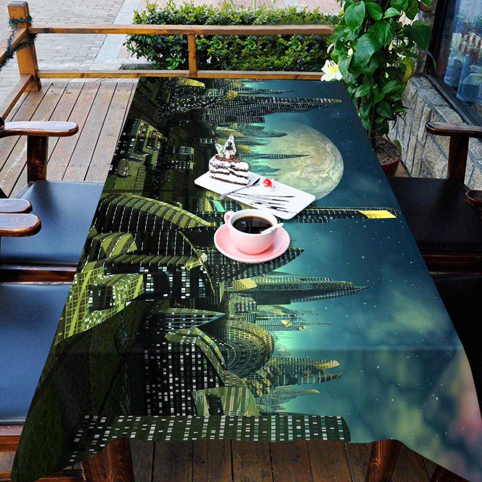3D Ville Sky 56 Nappe Table Cover Cloth fête d'anniversaire AJ papier peint Royaume-Uni Citron