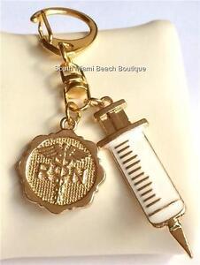 NURSE BLESSING Nursing Graduation Gift Keychain Zipper Purse Tag RN LPN CNA LVN