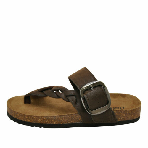 Outwoods BORK-67 Brown Women/'s Vegan Strappy Buckle Sandals 21384