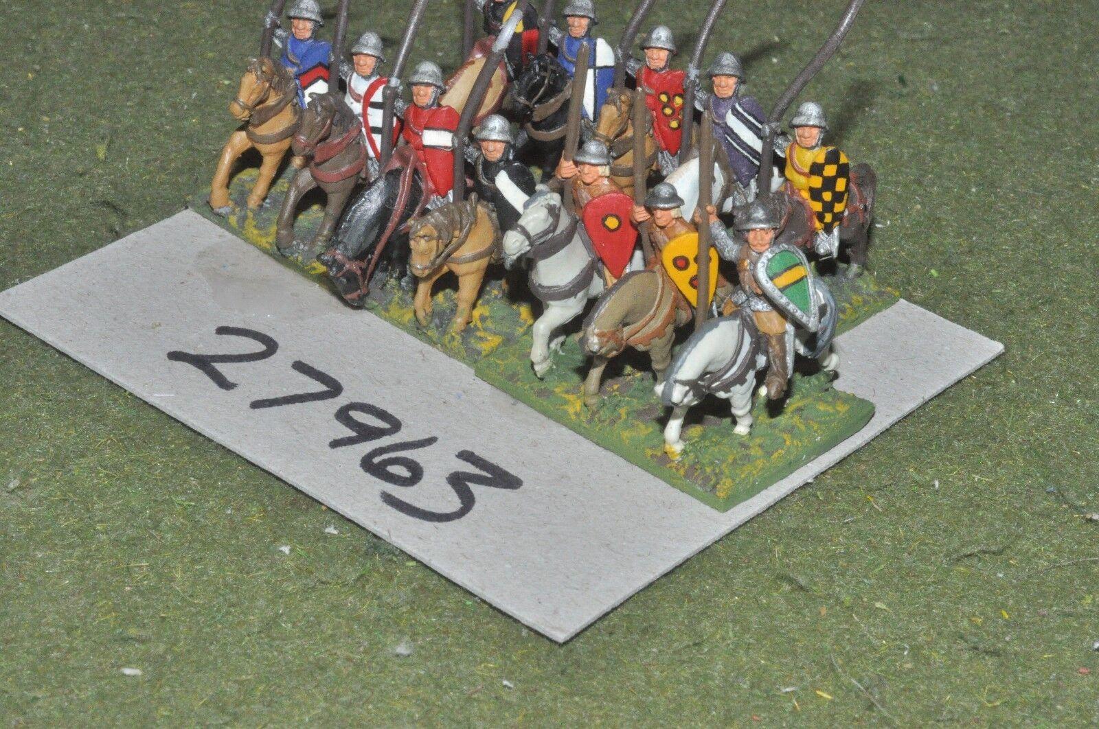 15mm medieval   english - heavy 12 figures - cav (27963)