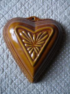 Détails sur ancien moule à gâteau coeur déco cuisine déco montagne chalet