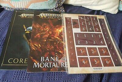 Amichevole Warhammer Age Of Sigmar Ira E Wrapture Bane Di Mortal Regni Ooklet + Token-mostra Il Titolo Originale Bianchezza Pura