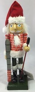 New-Wooden-Nutcracker-Skiing-Winter-Fur-Snow-Christmas-Decoration-Collection