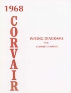 CORVAIR 1968 Wiring Diagram 68 | eBay
