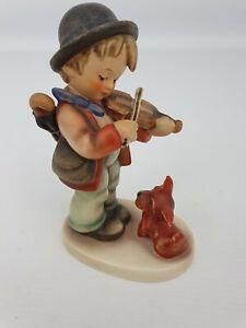 Puppy-Love-Boy-Violin-Hummel-Goebel-Number-1-Statue-Figurine-TMK-3-Bee-5-034
