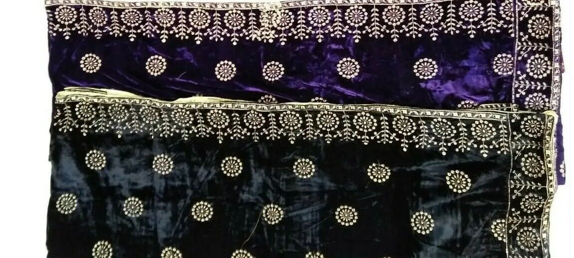 Embroidery Velvet shawl chaddar Many colours & designs Great for Winter, Party