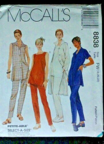 McCalls Ladies  Sewing Pattern  8838  Pants /& Skirts Set New  choice size