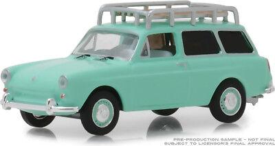 Greenlight Estate Wagons 1965 VW Volkswagen Squareback w/Roof Rack Green  812982022266 | eBay