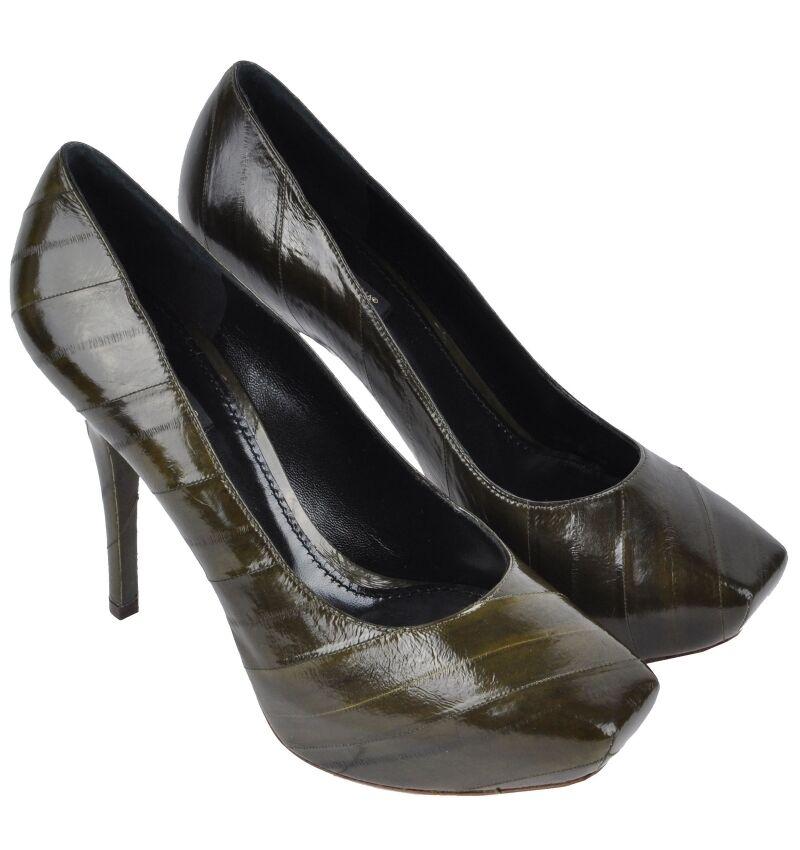 Dolce plataforma & Gabbana plataforma Dolce anguila pumps zapatos caqui verde eel Zapatos heels Verde 03081 c59813