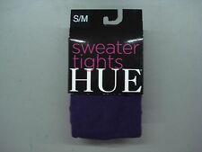 NWT Women's Hue Flat Knit Sweater Tights Size S/M Aubergine #844C