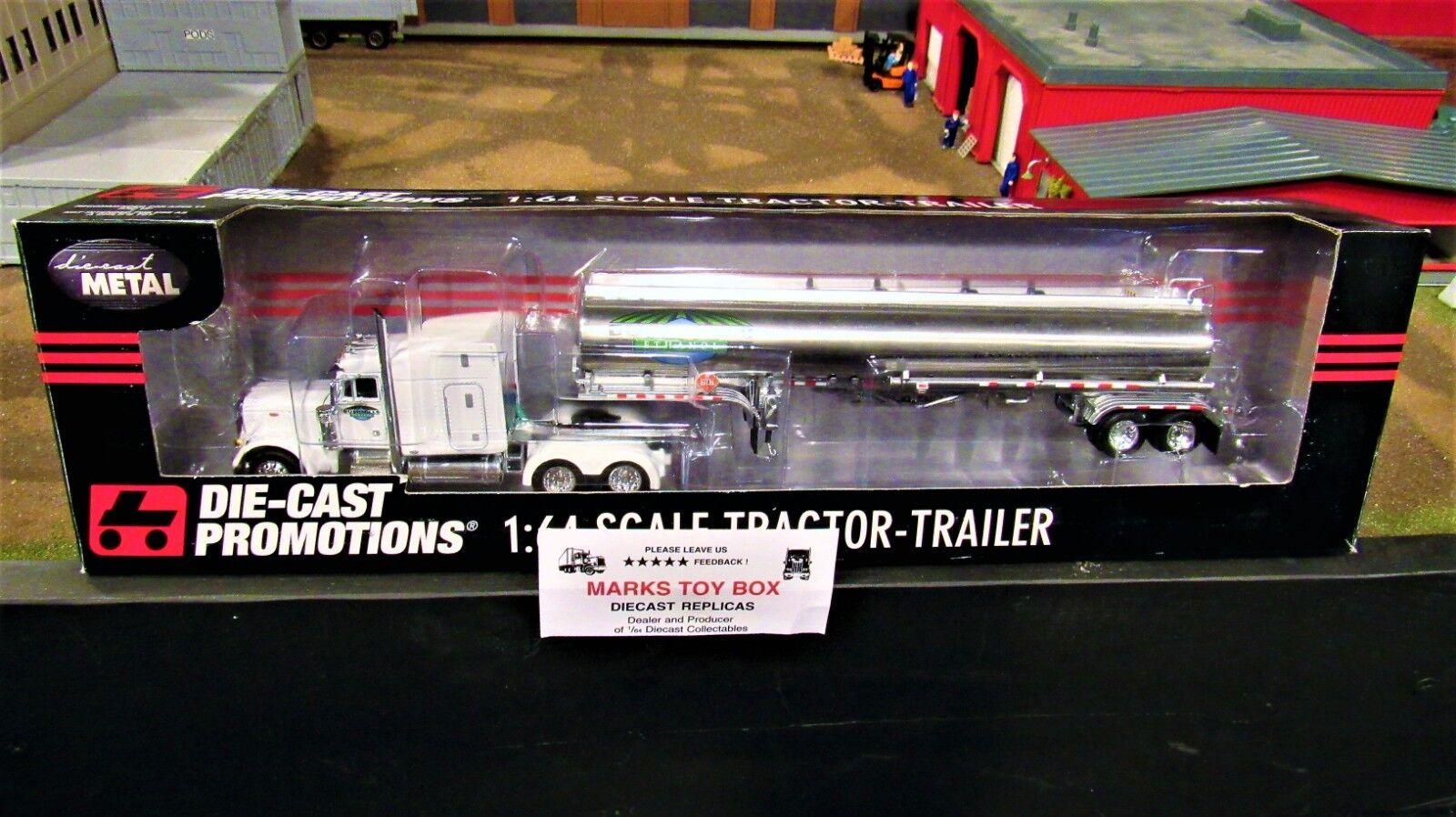 DCP 33629 Bushmills éthanol Pete 379 demi Camion Gas Fuel Tanker Trailer 1 64 CL