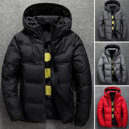 1 Hommes UltraLéger Duck Down Jacket Épaissir à capuche gilet chaud Outwear manteau d/'hiver