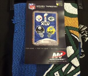 Green-Bay-Packers-Blanket-Throw-Super-Bowl-45-XLV-Logo-HUGE-CLEARANCE-SALE