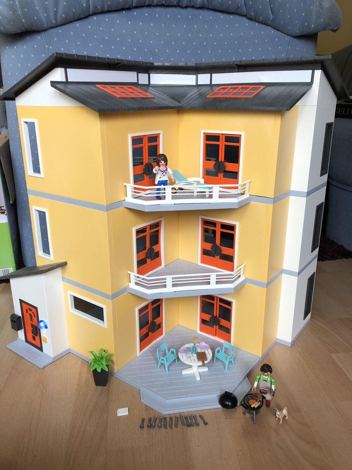 Playmobil 9266 Modernes Wohnhaus mit mit mit Zusatzetage 6554 Erweiterung Klingel Licht ea188d
