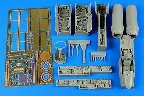 Aires 1 48 F A-18A Hornet detail set for Hobby Boss kit