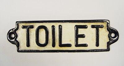 """9977537 Eisenguss Türschild Toilette /""""Toilet/"""" schwarz-weiss rustikal 18x5cm"""