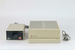Apple-A2S6000-IIGS-Computer-With-Installed-Cards-and-Apple-Disk-II