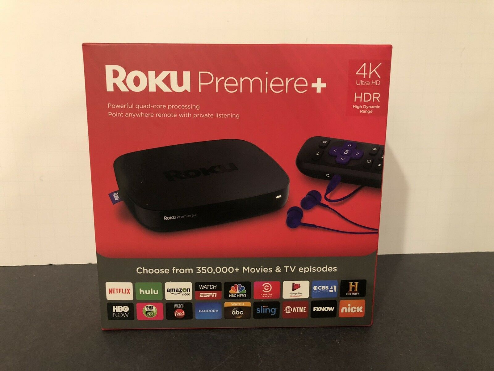 Roku Premiere+ (Plus) + 4630R 4K HDR Quad-Core Streaming Media Player NEW 4630r hdr media new player roku streaming