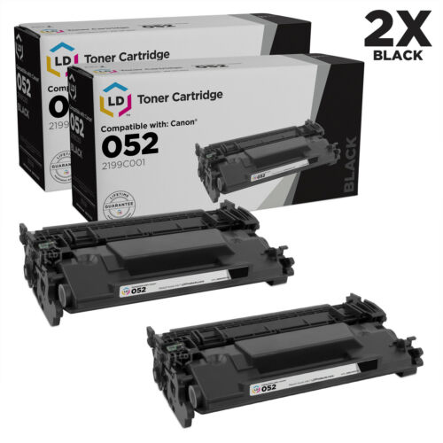 LD Compatible Replacement for Canon 052 Pack of 2 Standard Yield Black Toners