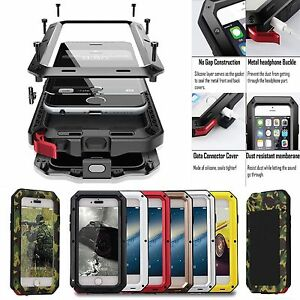 Shockproof-Aluminum-Gorilla-Metal-Glass-Metal-Case-Cover-for-iPhone-XR-8-6S-Plus